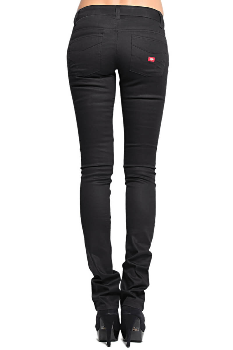 MOGAN Dickies Girls Twill Skinny Pants Stretch Slim Work School ...