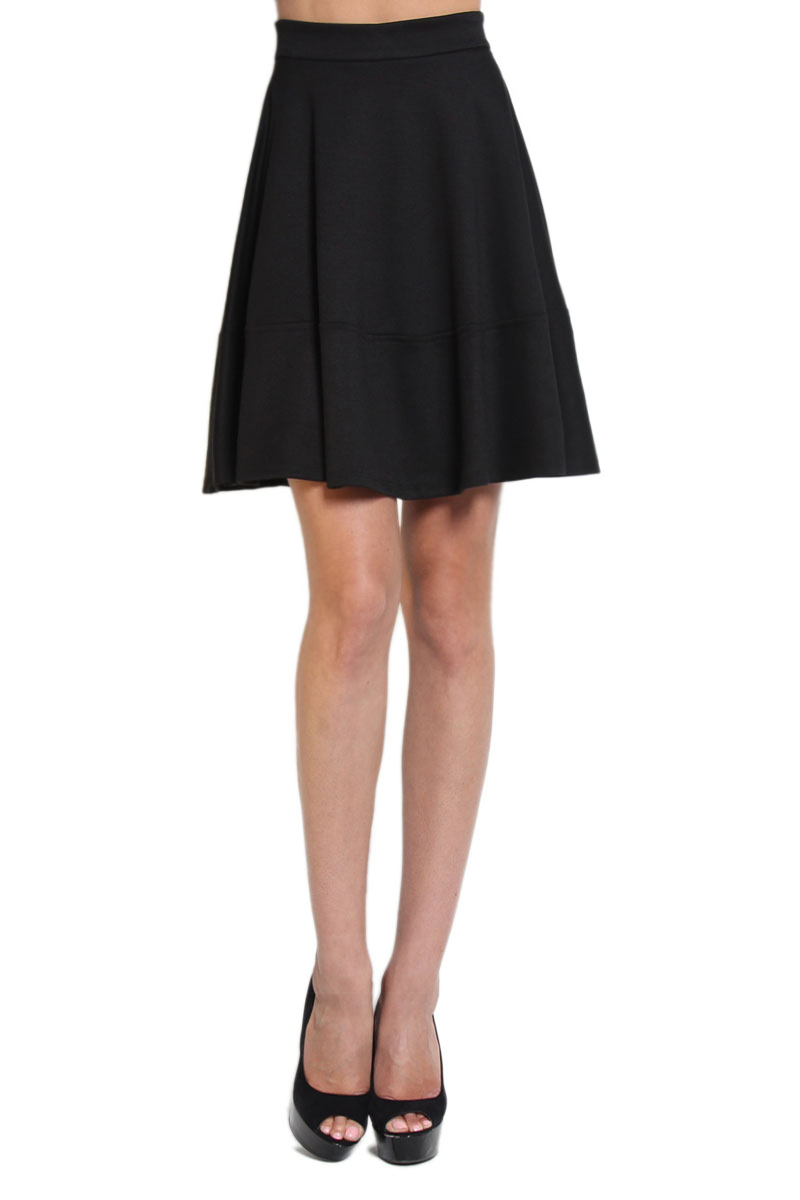 Black skater skirt knee length – Modern skirts blog for you