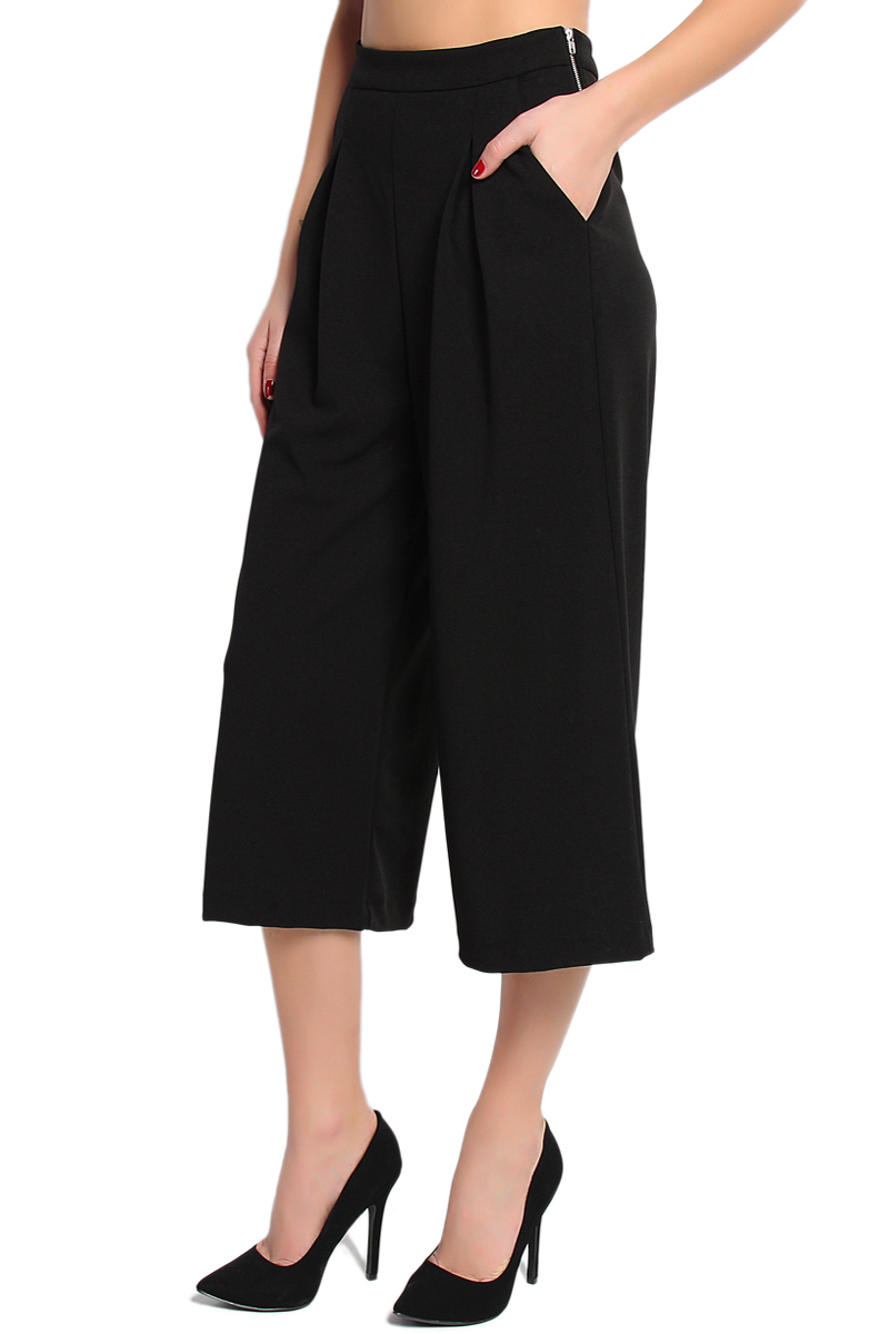TheMogan Tailored Pleated High Waisted Slant Pocket Wide ...